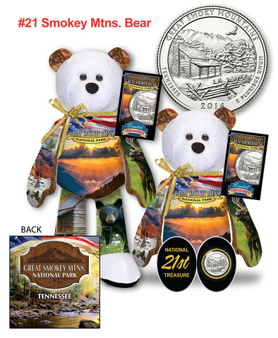 Great Smoky Mountains Tennessee National Park Quarter bear