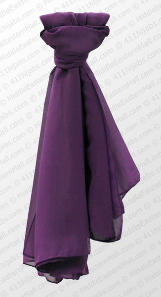 Chiffon Square Scarf  in #13 Purple - MiddleEasternMall
