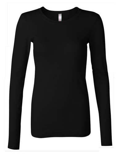 Ladies Cotton T-Shirt Black #1 Small - MiddleEasternMall