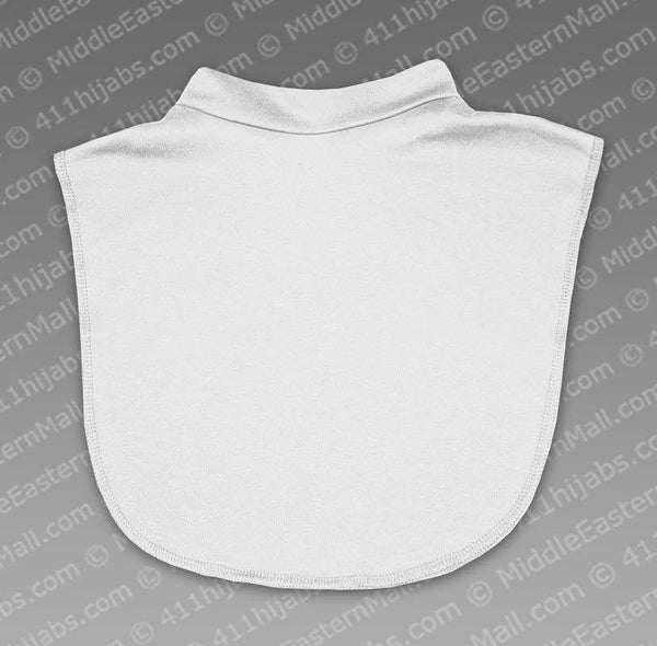Highest Quality Cotton Spandex Dickey Collar # 3 White - MiddleEasternMall