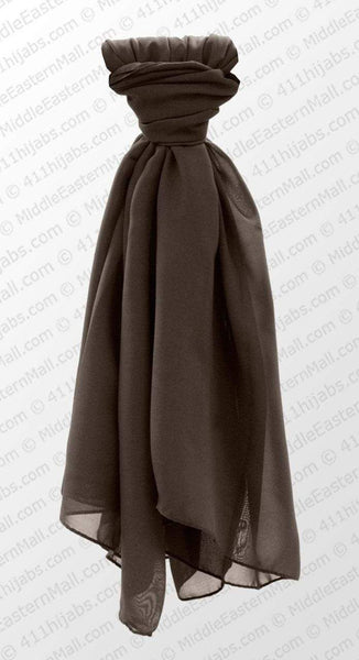 Georgette  Square Scarf # 1 Charcoal Gray - MiddleEasternMall