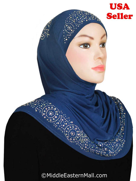 Wholesale set of 10 Zelfa Design 1 piece Lycra Amira Hijabs
