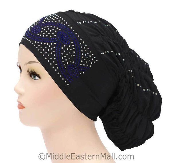 Lot Of 18  Petite Royal Snood Caps in 6 different colors and Stone design