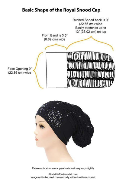 Petite Royal Snood Ruched Hijab Caps Arch Design