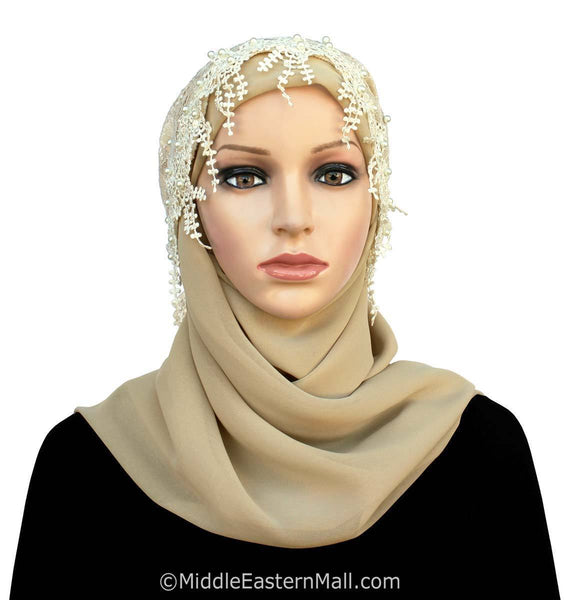 Salma Lace Hijab Set front view