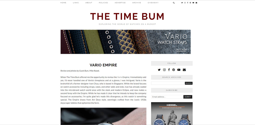 vario empire watch review the time bum