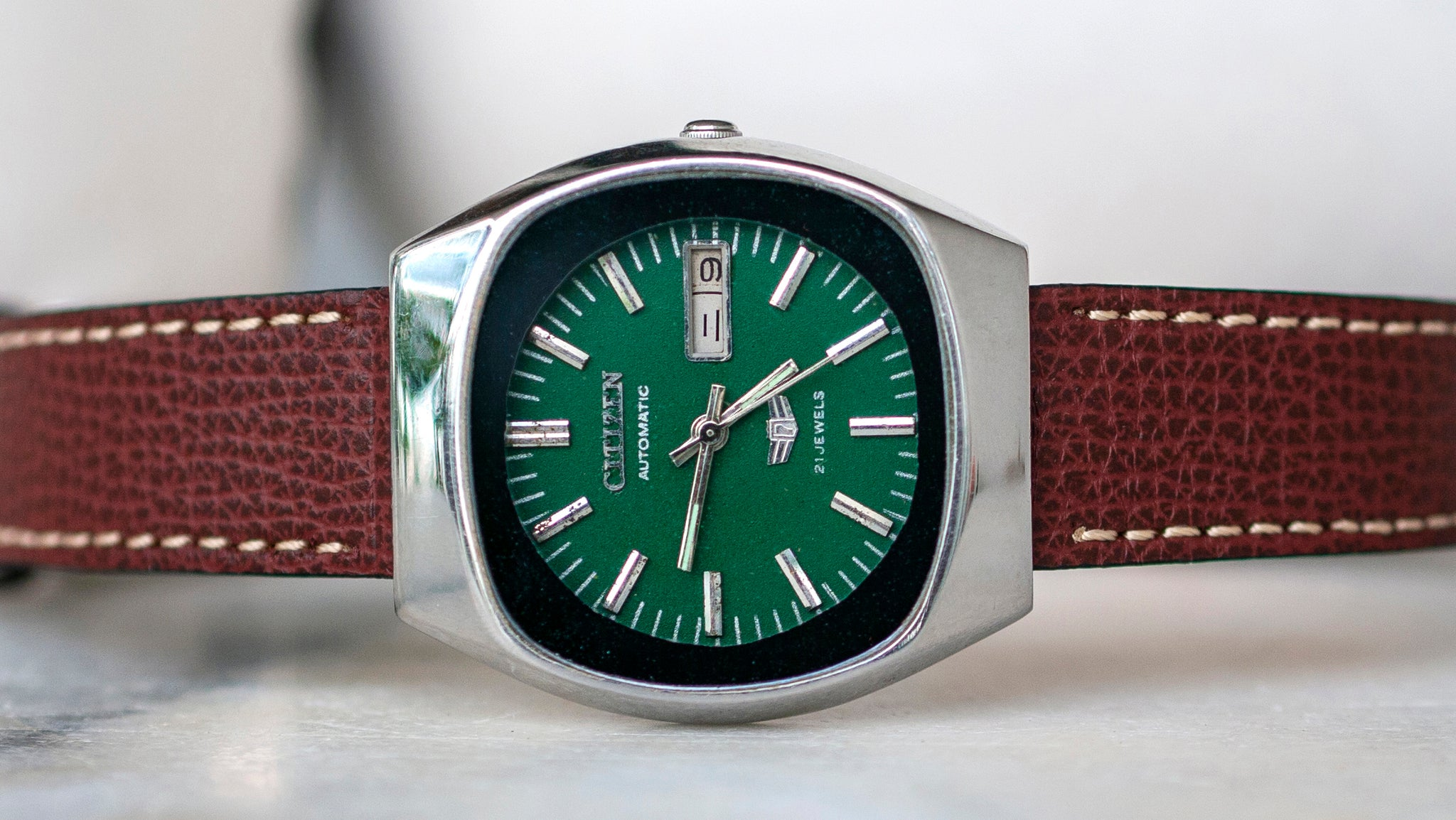 vario hodinkee style italian leather watch strap