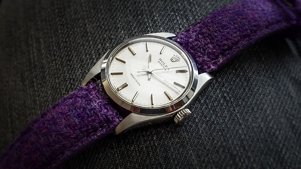 rolex on vario harris tweed watch strap