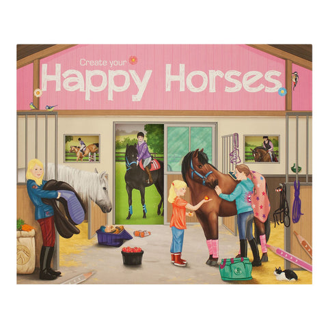 Create Your Happy Horses Sticker Book