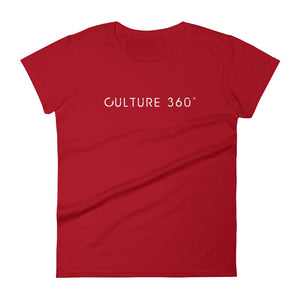 Women's culture 360 t-shirt red