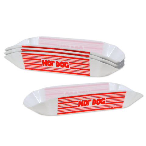 "Plastic Hot Dog Holders, Size 8"" x 2½"""