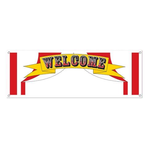 Welcome Sign Banner, Size 5' x 21""
