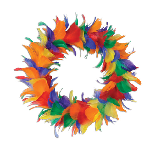 Feather Wreath, Size 8""