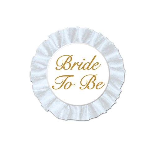 Bride To Be Satin Button, Size 3½""