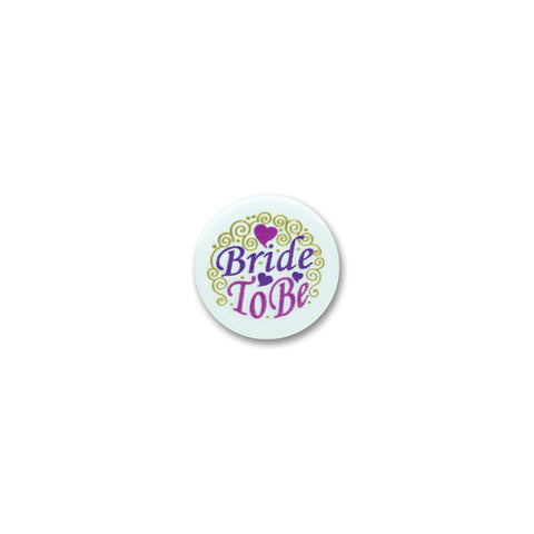 Bride To Be Satin Button, Size 2""