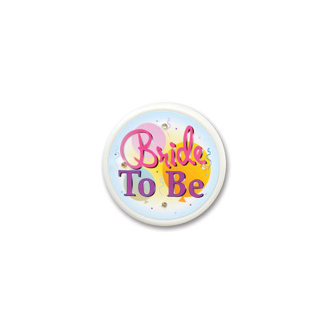 Bride To Be Flashing Button, Size 2½""