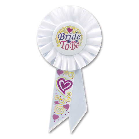 "Bride To Be Rosette, Size 3¼"" x 6½"""