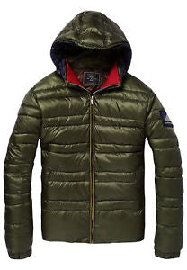 SCOTCH&SODA CLASSIC DOWN OLIVE JACKET