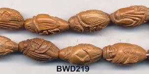 Carved Olive Nut Buddha Bead BWD219