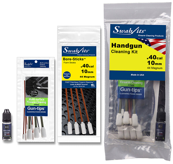 (12 Bag Case) Swab-its® .40cal/10mm/44MAGHandgun Cleaning Kit: 44-003-12-2