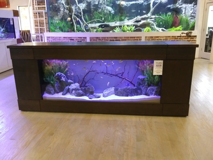 Backlit 150 Gallon Low-boy Aquarium (Complete Setup)
