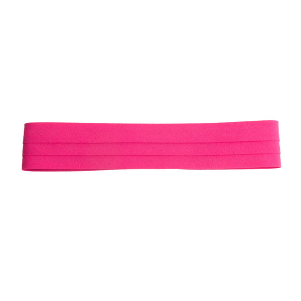 puggaree ~ 3 pleat solid ~ hot pink