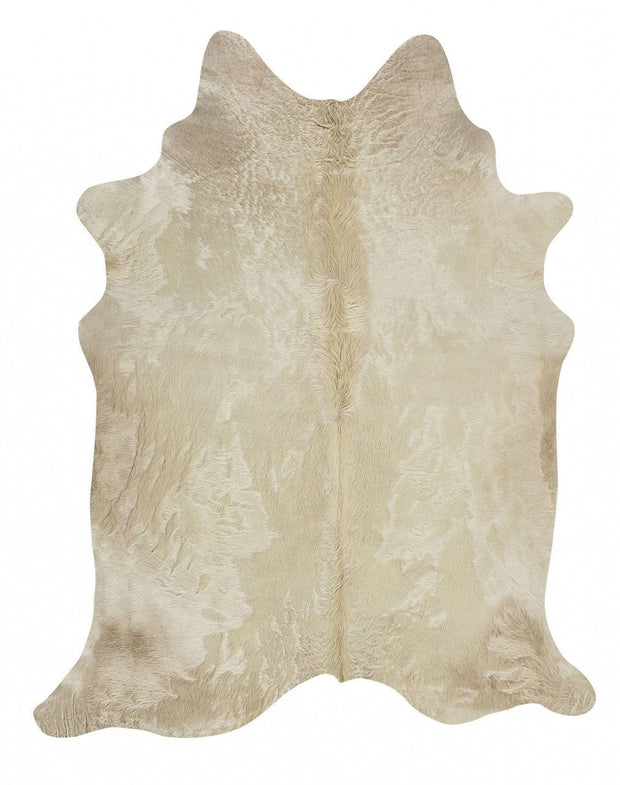 Premium Natural Cow Hide in Champagne