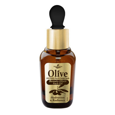 HerbOlive Face Oil Beauty Elixir, Hydration & Radiance with Olive Oil, Prickly Pear & Cretan Carob 30ml/1.01oz (free shipping), Face Oil/Eye Care, OnlyMySkin.com - OnlyMySkin.com