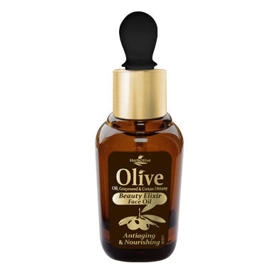 HerbOlive Face Oil Beauty Elixir, Anti-aging & Nourishing with Olive Oil, Grape seed & Cretan Dittany 30ml/1.01oz (free shipping), Face Oil/Eye Care, OnlyMySkin.com - OnlyMySkin.com