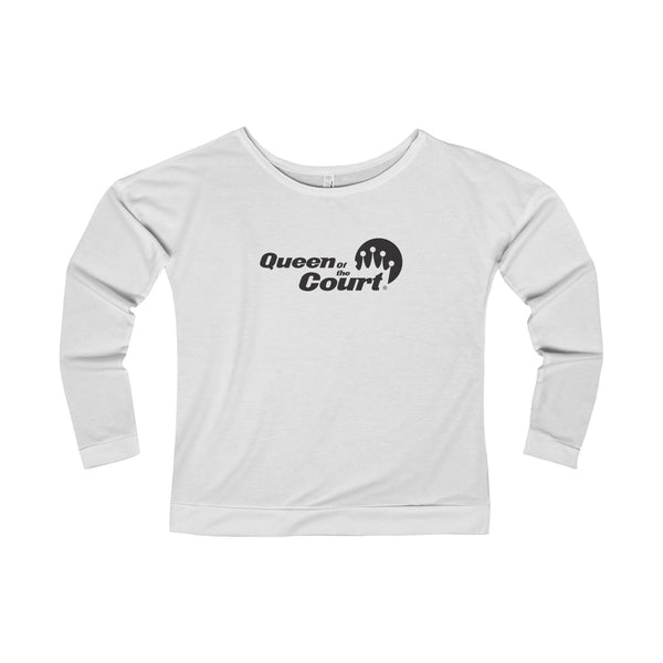 Queen of the Court® Women's French Terry Long Sleeve Scoop-neck