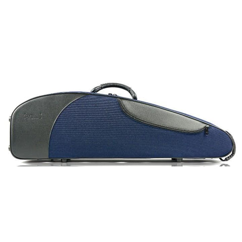 Image of blue contoured violin case