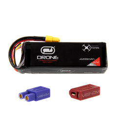 Leap LQ 450 15C 3S 2200mAh 11.1V LiPo Drone Battery with UNI 2.0 plug by Venom