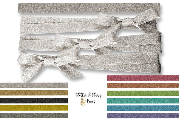 Velvet Satin Glitter Ribbon & Bow Graphics