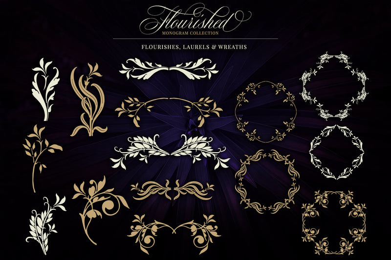 Flourished Vector Monogram Collection