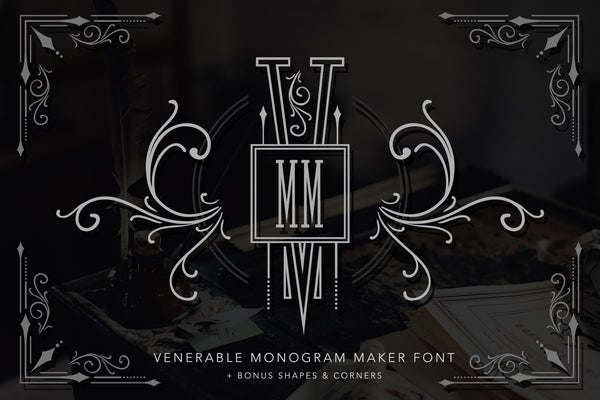 Venerable Monogram Maker Font Kit