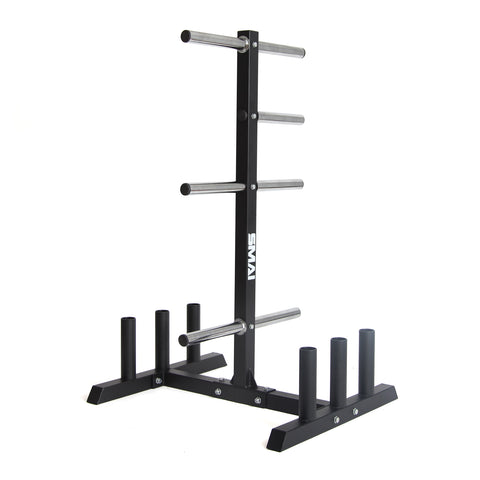 Olympic Bumper Plate Tree & Barbell Holder