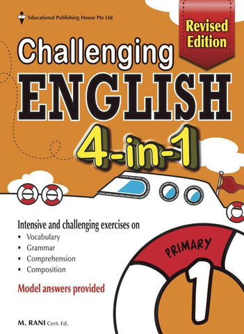 Challenging English 4-in-1 Primary 1 - singapore-books