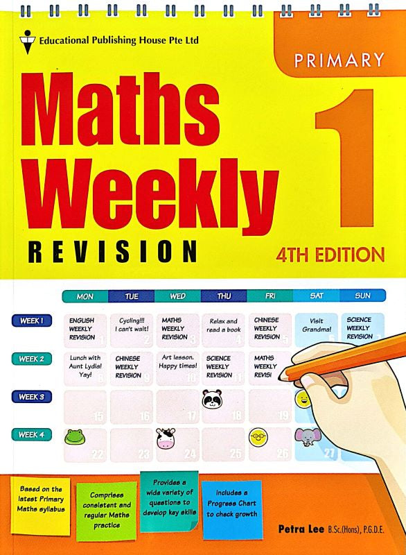 Maths Weekly Revision Primary 1 - singapore-books