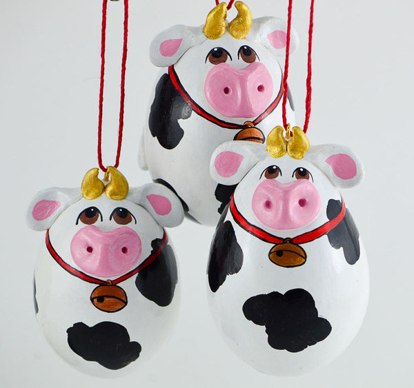 Primitive Cow Ornament - Made To Order, Holstein Cow ... |Holstein Cow Decorations