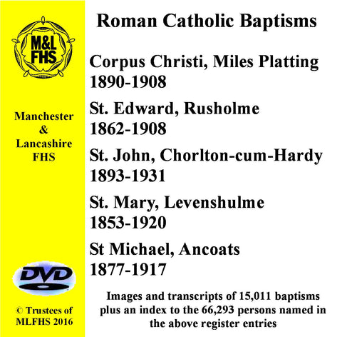 Five Catholic Church Baptisms DVD