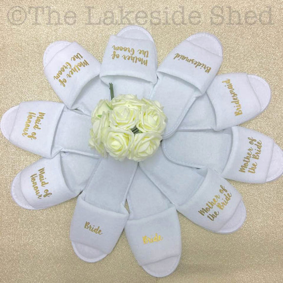 Hen Party Slippers • Bridal Party slippers • Personalised Spa Slippers