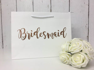 Copper Bridesmaid Bag • Bridesmaid Gift Bag • Bridesmaid Bag • Personalised Bridesmaid Bag • Wedding Gift Bag • Boutique Bag • Thank You