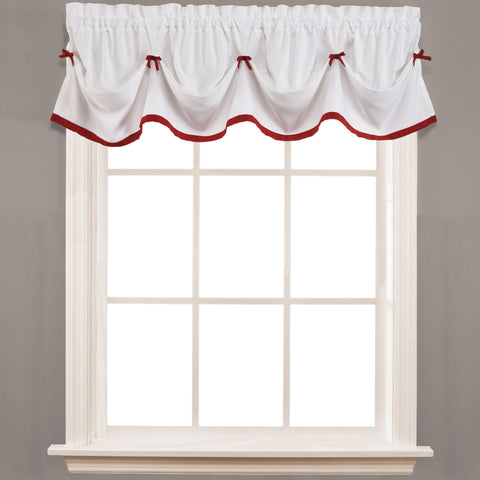 Kate Rod-Pocket Tailored Valance- Berry