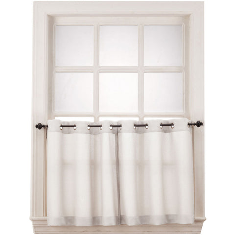 Montego Grommet-Top Window Tiers- White