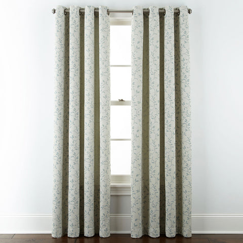 Anza Grommet-Top Curtain Panel- Abyss Green