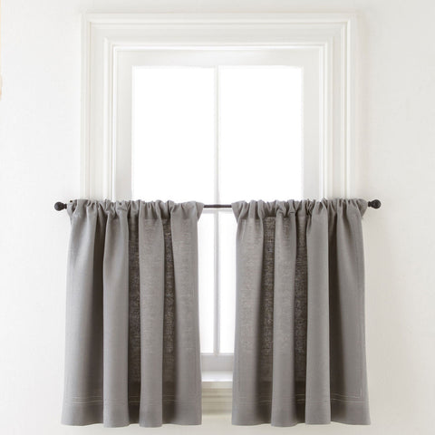 Cameron Rod-Pocket Window Tier Pair- Gray