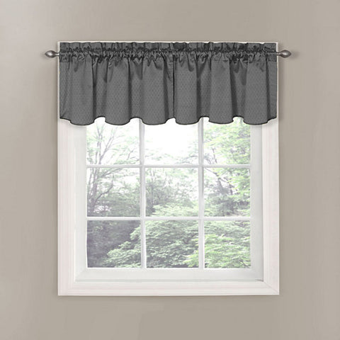 Canova Rod-Pocket Valance- Charcoal