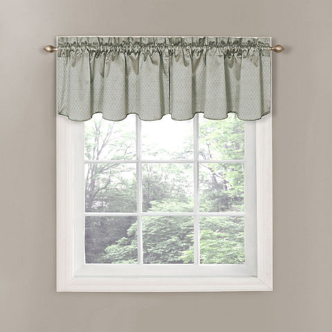 Canova Rod-Pocket Valance- Grey