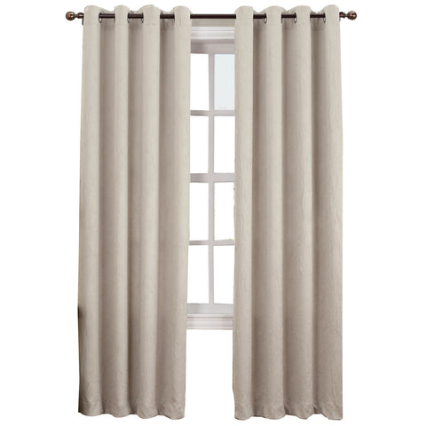 Asher Grommet-Top Curtain Panel- Stone