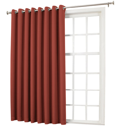 Emory Room-Darkening Grommet-Top Patio Panel- Brick